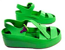 Mosquitos Green Plastic Platform Club Shoe 7 Pvc Goth Rave Punk Vintage 1990s 38