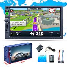 "7"" 2DIN Bluetooth Car Dash MP5 Player WCE GPS Navigation Audio Radio Stereo +Map"