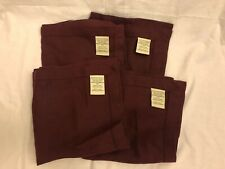 Pottery Barn Burgundy Linen Napkins Set Of 4 New