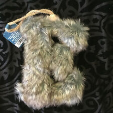 TARGET TREND TRIM GIFT TOPPER FAUX FUR LETTER E FOR CHRISTMAS STOCKING ORNAMENT