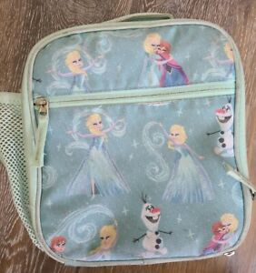 Pottery Barn FROZEN Anna & Elsa Classic Lunchbox Bag w/ Bottle Holder USED READ