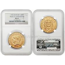 Dominican Republic 1955 Trujillo Regime 30 Peso Gold NGC MS61