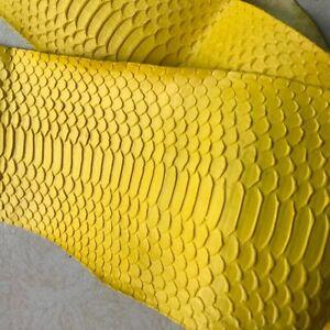 Real Spitting Leather Snake Hide Skin Python snake thickness Lambskin Snakeskin
