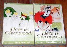 2 (1-2) HERE IS GREENWOOD ~ VIZ Shojo MANGA BOOKS ~ YUKIE NASU ~ English