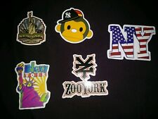 LAPTOP STICKERS NEW YORK STYLE CAR SKATEBOARD INSTRUMENT CASE DECALS LOT OF 5