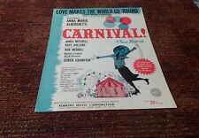 Love makes the world go round theme from Carnival Theater sheet music 1961 EX