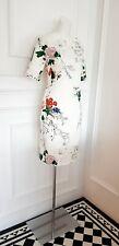 Zara Ivory White  designer evening Spring Wedding Guest Cocktail  dress 10