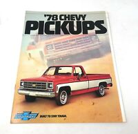 Original 1978 Chevrolet Truck Pickup Sales Brochure 78 Chevy Paper Advertisement