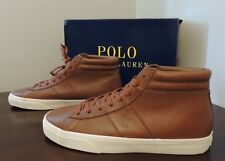 Polo Ralph Lauren SHAW-SK-VLC Pony Leather Hi Top Sneaker Ankle Boots Shoes 14