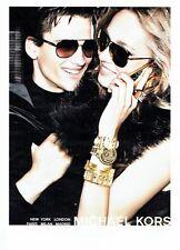 PUBLICITE ADVERTISING 027  2012   les lunettes solaires montres Michael Kors