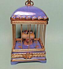 Limoges ~ Love Birds ~ Parry Vielle Pv ~ Pein Main France Vintage Trinket Box