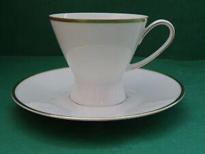 Rosenthal Form 2000 Kaffeegedeck 2 teilig  Weiß mit Goldrand