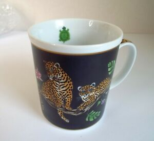 Lynn Chase Designs Jaguar Jungle Coffee Mug Decorated With 24 KT Gold
