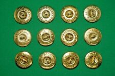 Original Vintage 12 Buttons for Military Uniform from Cccp
