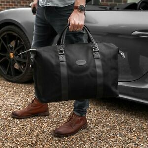 Mens Large Sports & Gym Duffle Holdall Bag TRAVEL SPORT WORK / BLACK BAG