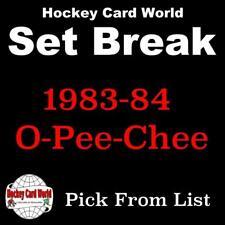(HCW) 1983-84 O-Pee-Chee NHL Hockey Cards Mint Set Break 1-250 - You Pick