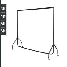 HEAVY DUTY BLACK CLOTHES RAILS/GARMENT HOLDER 3ft 4ft 5ft 6ft