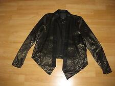 Blazer Party Jacke Amisu New Yorker Gr. 34 Schwarz Gold Leo Muster