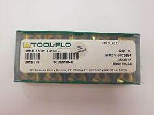 10pc) ToolFlo 16IR 18UN GP50C Laydown Coated Carbide 18 TPI Threading Inserts