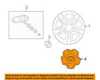 TOYOTA OEM 08-11 Land Cruiser Wheels-Center Cap 4260B60030
