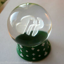 "Girl Scout Lead Crystal PRISM GLOBE Trefoil 3-Faces Profile 3"" Paperweight GIFT!"