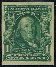 #314 1906 1 CENT FRANKLIN IMPERF ISSUE MINT-OG/H--VF/XF