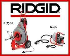 Ridgid K-40 Sink Machine 71722 & Ridgid K-7500 Drum Machine 60052