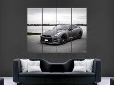 NISSAN GTR R35 SUPERCAR FAST MATT BLACK  WALL POSTER ART PICTURE PRINT LARGE