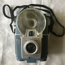 Vintage Brownie Flash 20 Camera Blue With Neck Strap