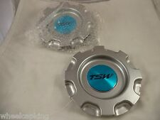 TSW Wheels Silver Custom Wheel Center Caps # CT14301HB (SET OF 2)
