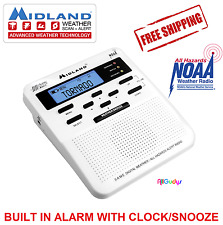 Midland Weather Radio Storm Warning Alert NOAA Alarm Tornado Hurricane Home Snow