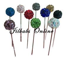 10  Crystal Diamante Shambala Hijab Scarf Brooch Pins