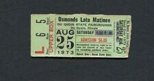 1973 Osmonds Concert Ticket Stub Donny Osmond Du Quoin Il Crazy Horses The Plan