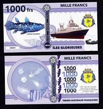 ILES GLORIEUSES ● TAAF / COLONIE ● BILLET POLYMER 1000 FRANCS ★ N.SERIE 000005