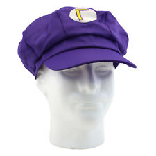 WALUIGI Super Mario Bros. Purple Baseball Hat (Gaming Cosplay Costume Cap)