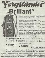 W4660 Voigtlander - Apparecchio fotografico BRILLANT - Pubblicità del 1934 - Ad