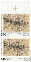 FRANCE #2380. Art. Abstract. Vieira Da Silva. Imperf. Margin Pair! Mint! NH! VF!