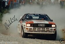 "World Rally Championship Driver Hannu Mikkola Hand Signed Photo 12x8""  AG"