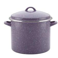 Paula Deen 46325 Enamel on Steel Covered Stockpot, Lavender Speckle 12 qt