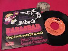 "7"" Single PETER THOMAS Sound Orchestra Babeck / Karlsbad 1968 Muster Stemp. | M-"