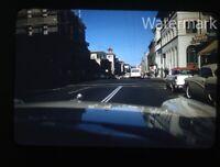 1959 kodachrome Photo slide San Francisco CA street scene  Cars Hall's