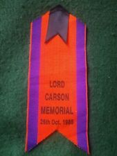 More details for lord carson funeral 50th anniversary memorial ribbon badge.