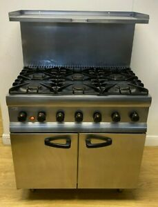 Lincat SLR9 6 Burner Cooker Oven Range  - NAT GAS - Commercial Catering