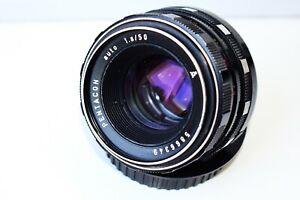 RARE Black Pentacon auto Meyer-Optik Görlitz Oreston Germany lens 50mm f/1.8 M42