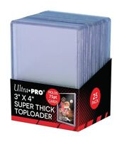 *NEW* (25) Ultra Pro SUPER THICK 75pt TOPLOADERS Holders 75 pt Trading Cards