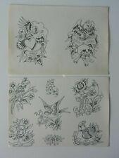 vintage tattoo flash - RON ACKERS GRAHAM TOWNSEND - not machine