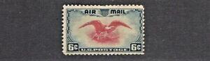 1938 U.S CLASSIC AIRMAIL 6c Eagle Dark Blue & Carmine  Sc#C23 M/NG