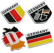 3D Metal German Germany Flag Map Car Truck Emblem Badge Sticker Decal' 4PCS 1SET