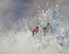 Stoopendaal Mosse Bullfinches Canvas 16 x 20   #5380