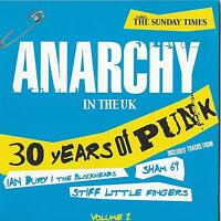 ANARCHY IN THE UK - 30 YEARS OF PUNK - 2 DISCS VOLS 1&2 - TIMES PROMO CDS